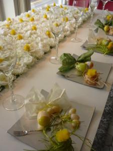 Un trionfo di fiori e dolcissimi pulcini per P300 pronta a festeggiare la Pasqua