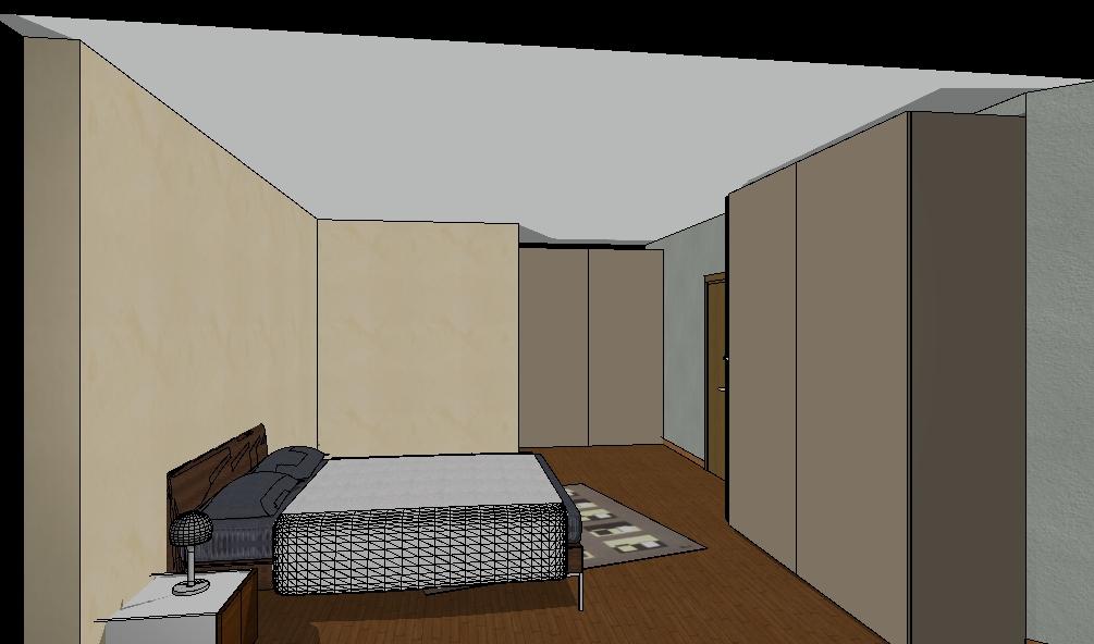 rendering camera da letto