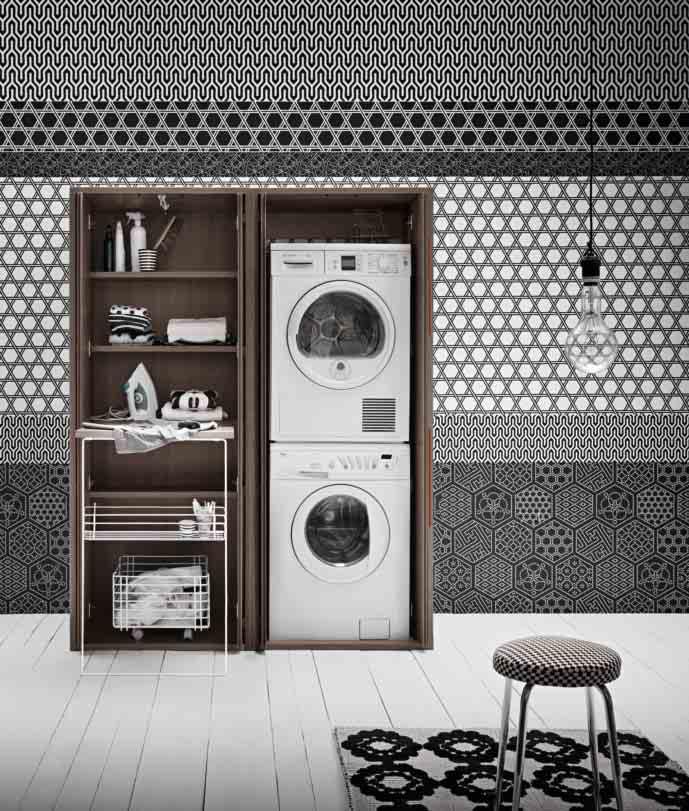 mobile porta lavatrice e asciugatrice