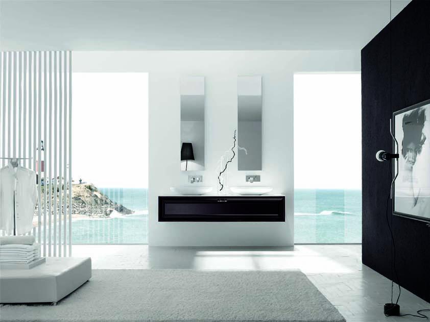 bagno componibile con doppio lavandino
