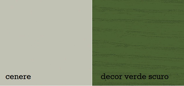 opaco cenere, decor verde scuro