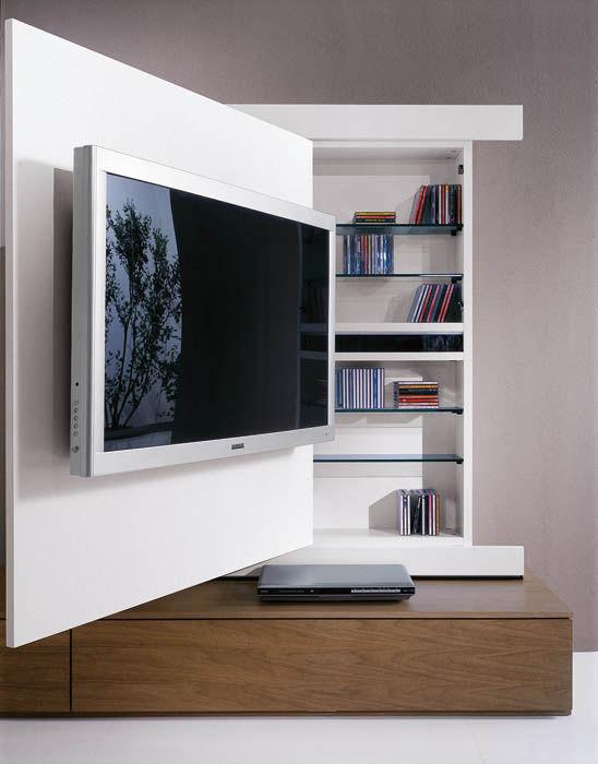Casa moderna roma italy camino tv - Parete tv moderna ...