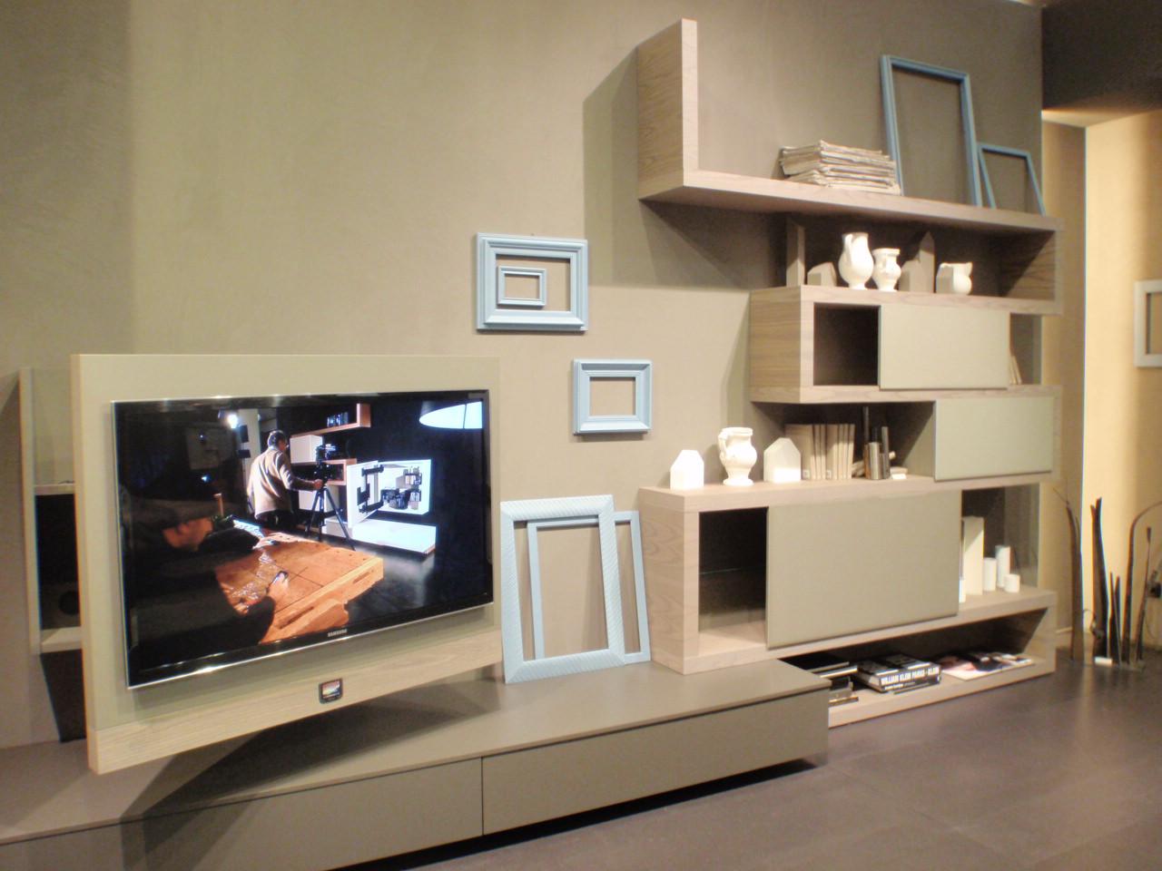Novita 39 fimar mobili madia letto libreria parete del soggiorno mobili e arredi lissone for Mobile porta tv girevole design
