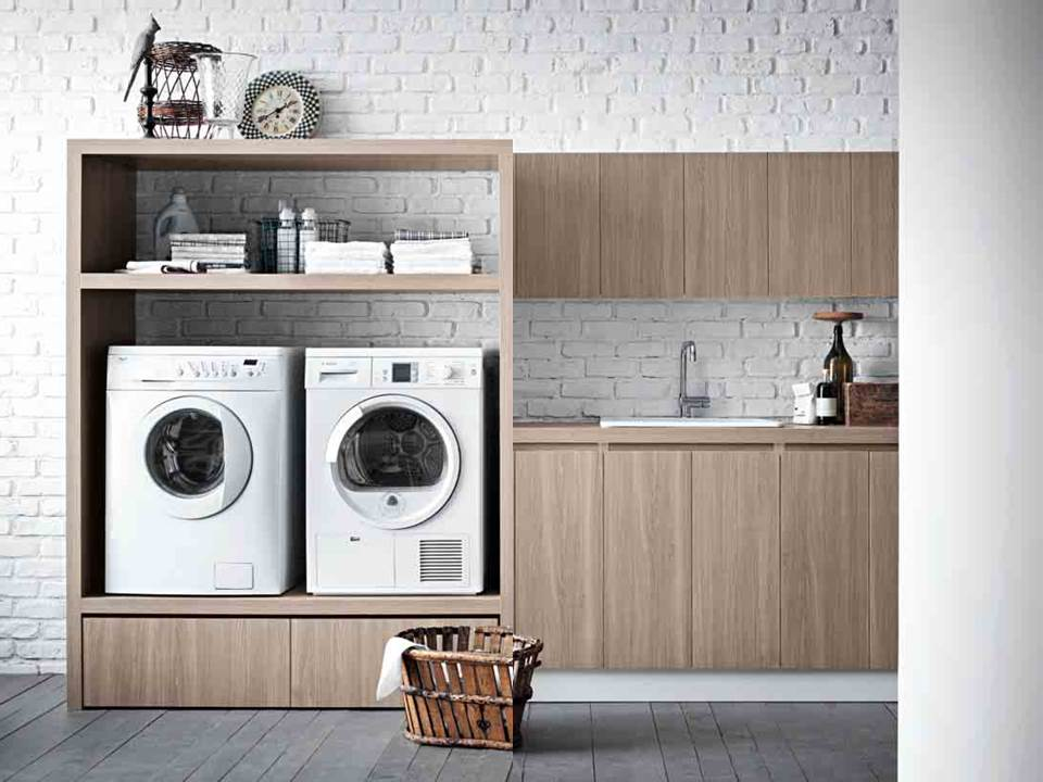 Idee per mobili salvaspazio armadio lavanderia armadio portalavatrice letto pieghevole non - Mobile lavatrice asciugatrice ...
