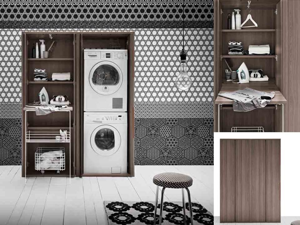 Idee per mobili salvaspazio armadio lavanderia armadio portalavatrice letto pieghevole non - Asse da bagno ...