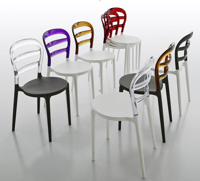 sedia free eurosedia impilabile colorata