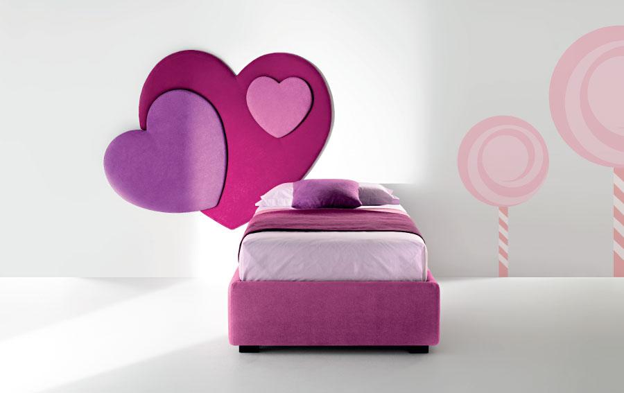 pannello cuore sweet letto singolo kids