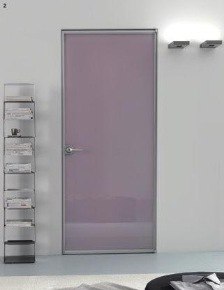 porta ingresso a vetro cornice alluminio