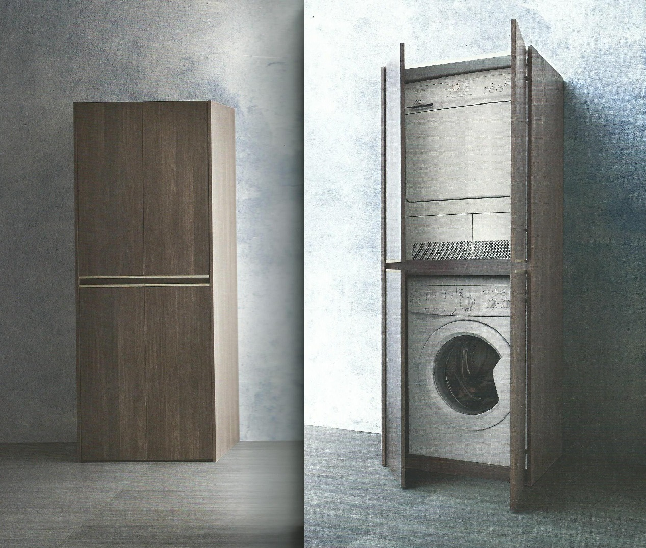armadio portalavatrice asciugatrice