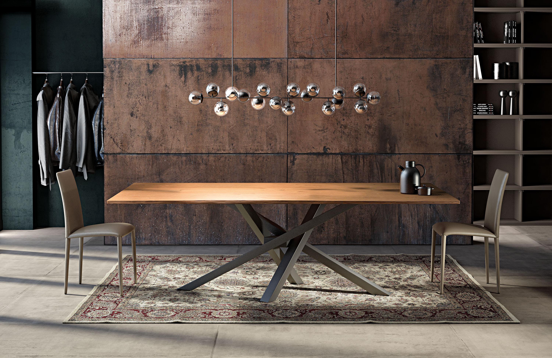 Tavolo moderno in vetro legno marmo non solo mobili for Riflessi tavoli e sedie