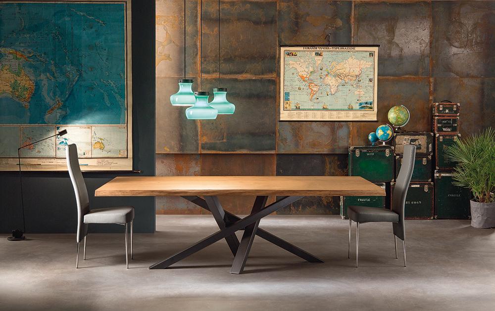 Tavolo moderno in vetro legno marmo non solo mobili cucina soggiorno e camera - Tavolo riflessi shangai allungabile ...