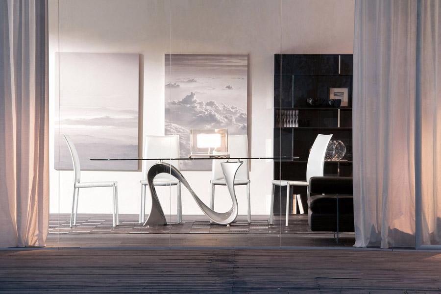Riflessi tavoli e sedie archives non solo mobili cucina - Sedie per tavolo in vetro ...