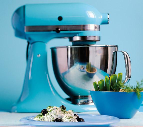 blu cristallo robot da cucina kitchen aid