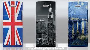 frigorifero  decorato bandiera inglese e new york
