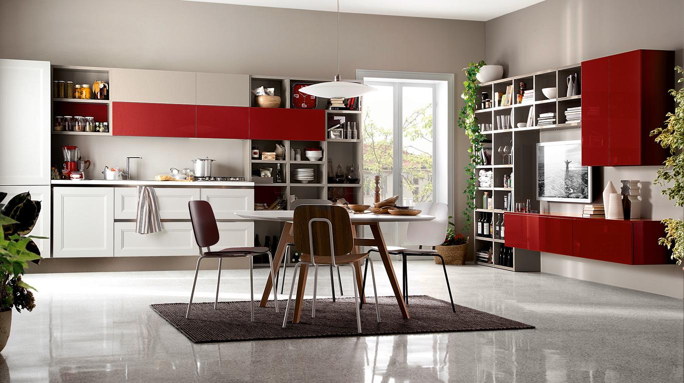 Idee per una cucina moderna con veneta cucine non solo mobili cucina soggiorno e camera - Foto cucine moderne ...