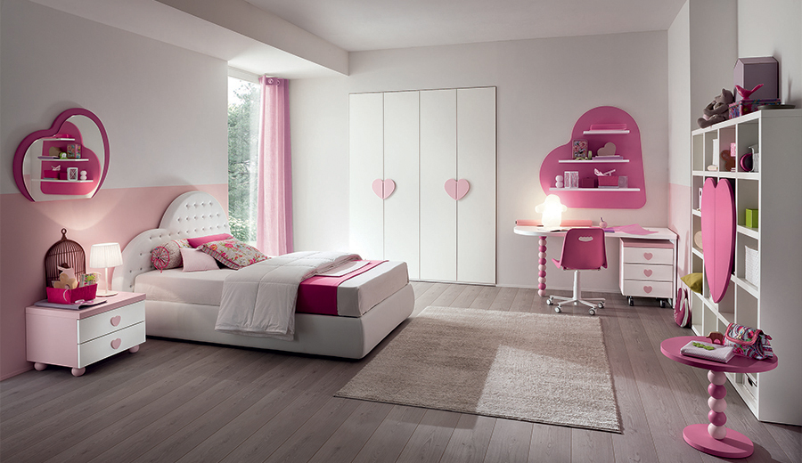La cameretta del cuore letto comodino armadio per una - Comodini per camerette ...