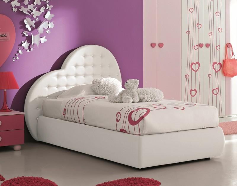 La cameretta del cuore letto comodino armadio per una principessa non solo mobili cucina - Testiere imbottite per letto ...