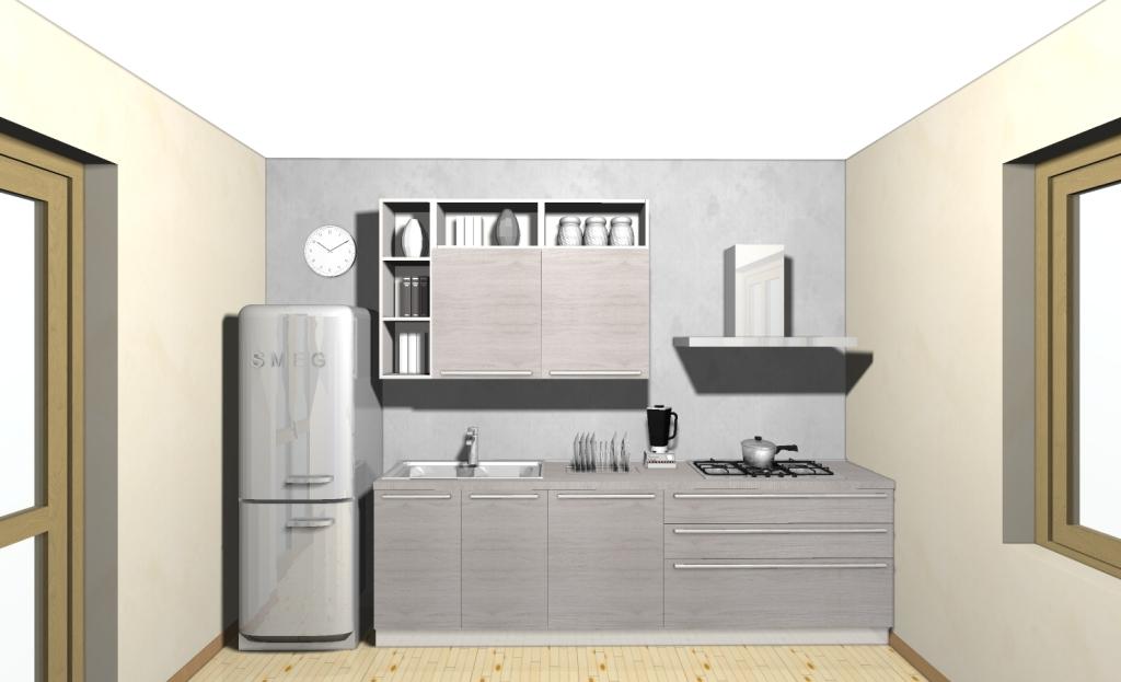 Cucina modello Ethica completa di elettrodomestici cm 350