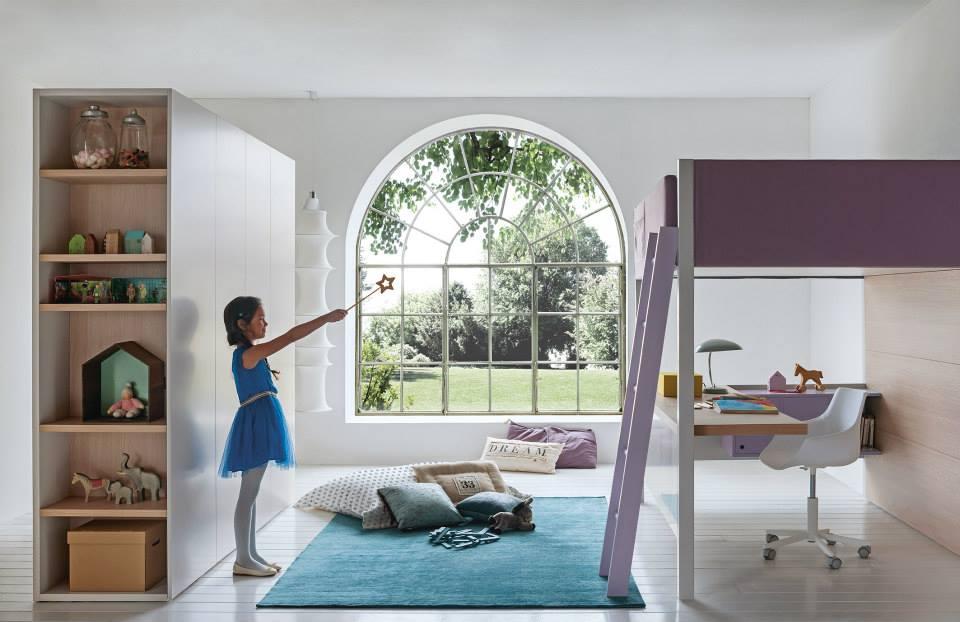 letto a castello mobili moderni : cameretta-bambina-letto-a-castello-con-scaletta.jpg