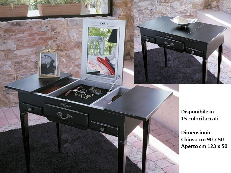 Toeletta archives non solo mobili cucina soggiorno e for Consolle nera laccata