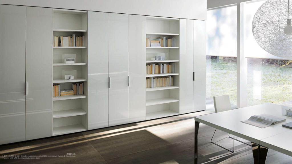 Armadio su misura non solo mobili cucina soggiorno e - Libreria con ante ikea ...