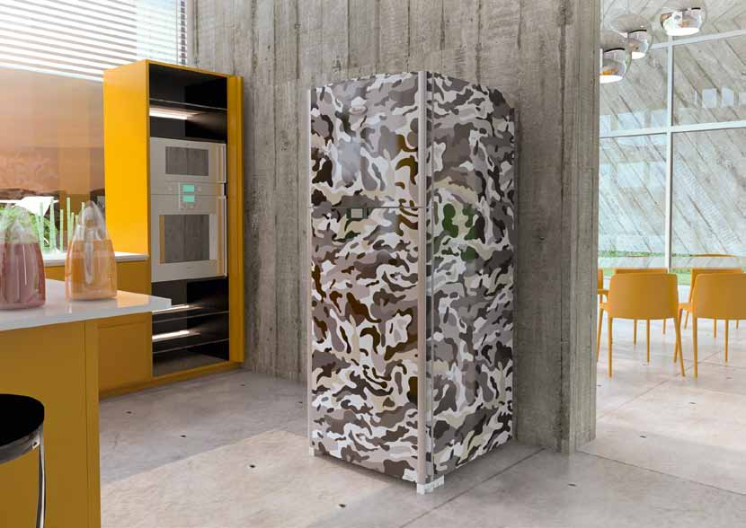 frigorifero stampa mimetica