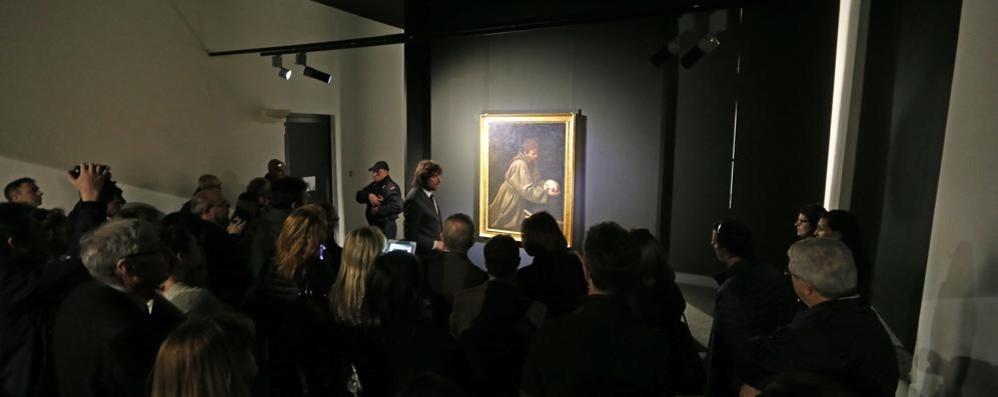 San francesco in meditazione di Caravaggio Serrone Villa Reale