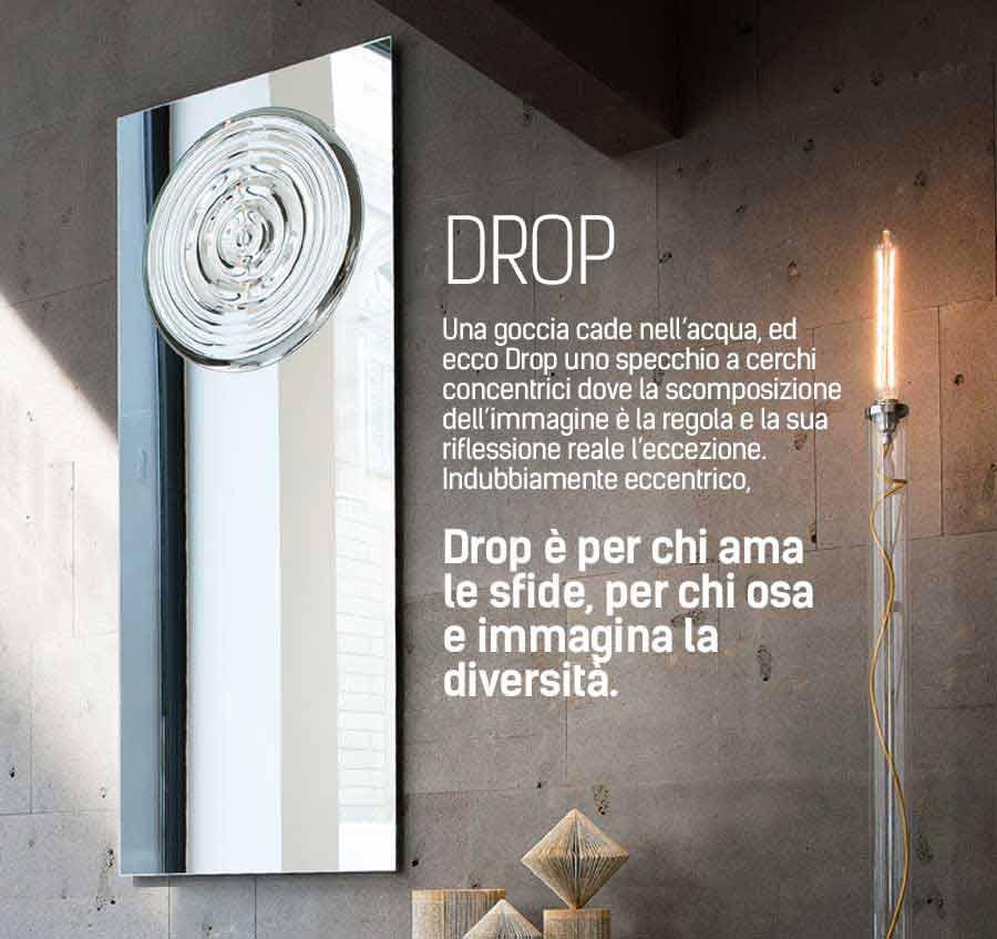 Specchio Drop Riflessi design