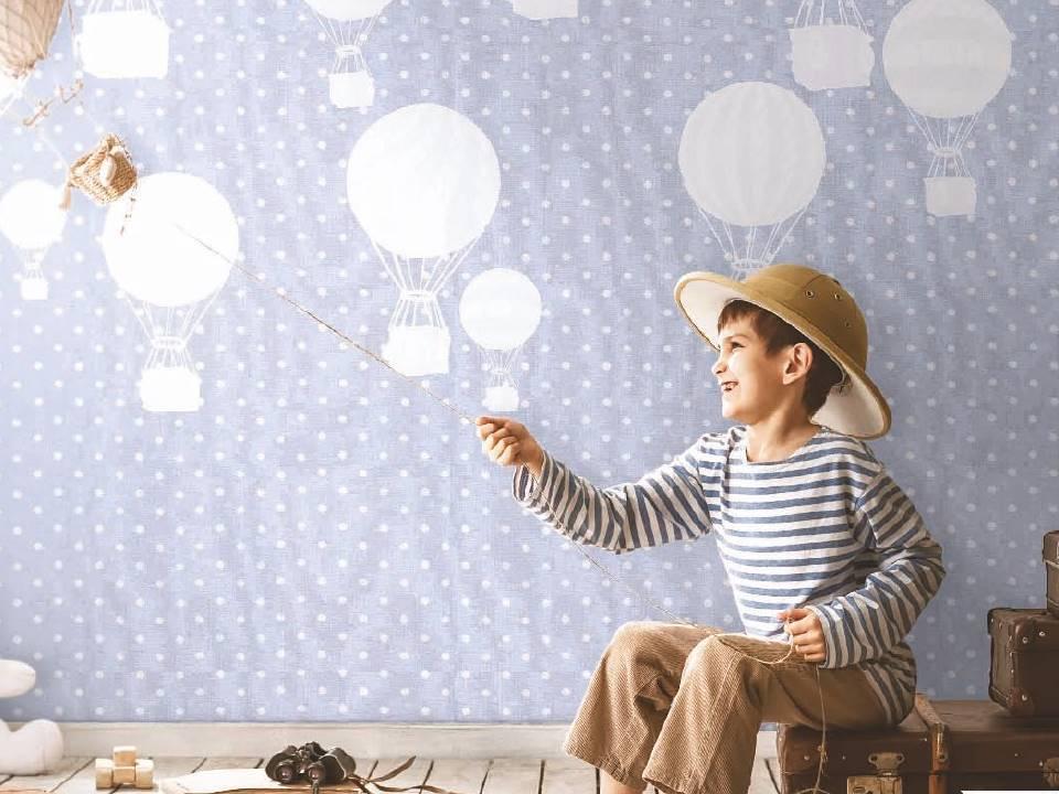 Carta da parati per cameretta per bambini e bambine atossiche for Carta da parati camera ragazzi