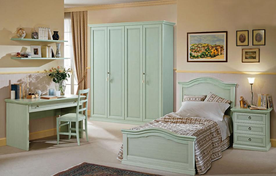 I Colori Ideali Per La Camera Da Letto : Cameretta classica laccata verde