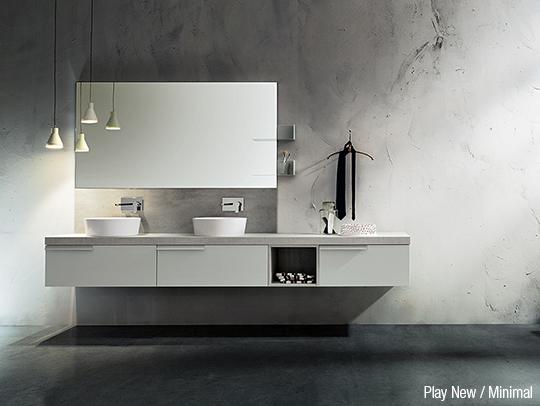arredo bagno cerasa stile moderno e minimal
