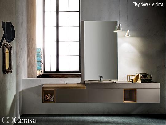 bagno moderno cerasa con lavabo integrato in ecocemento