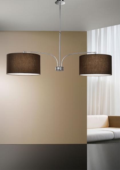 lampada in tessuto a sospensione per soggiorno