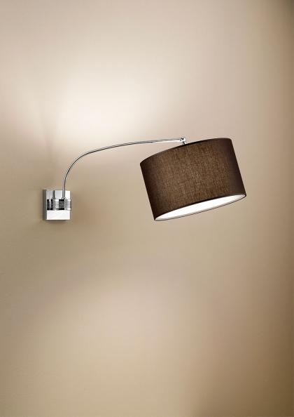 lampada d'arredamento a muro in tessuto