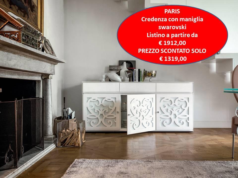 credenza Paris Tonin Casa in vetro
