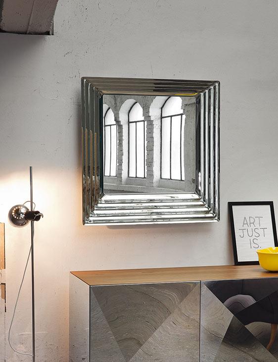 Specchio Queen by Riflessi, formato quadrato