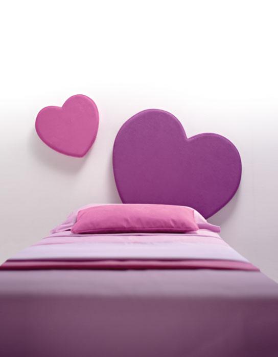 letto imbottito cuore Sweet pannelli da applicare a parete