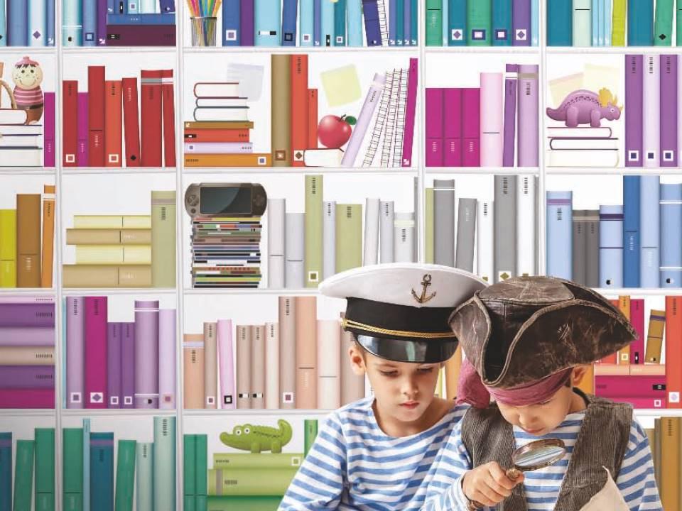 carta da parati soggetto libri