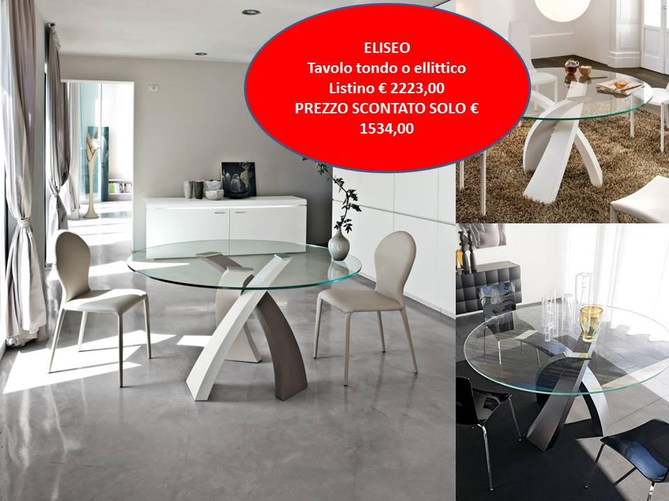 tavolo fisso Eliseo Tonin casa piano vetro base metallo verniciato
