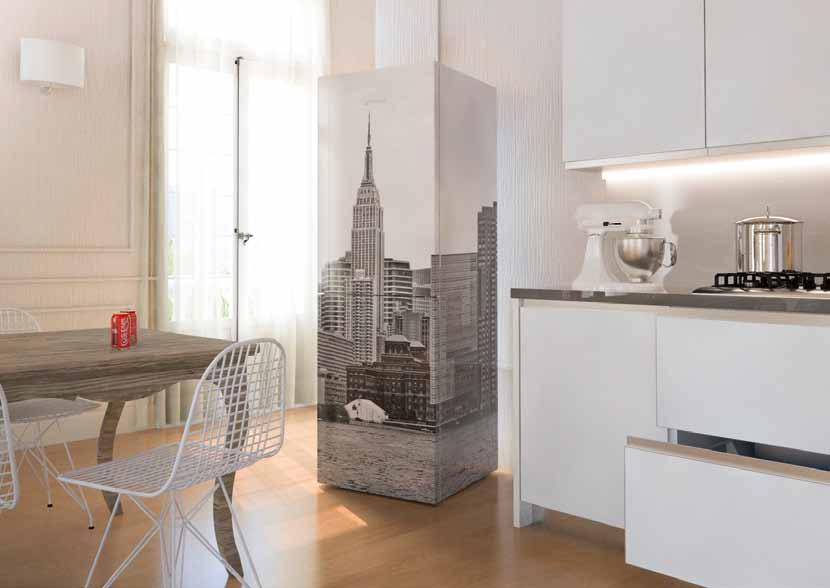 frigorifero new york colore seppia