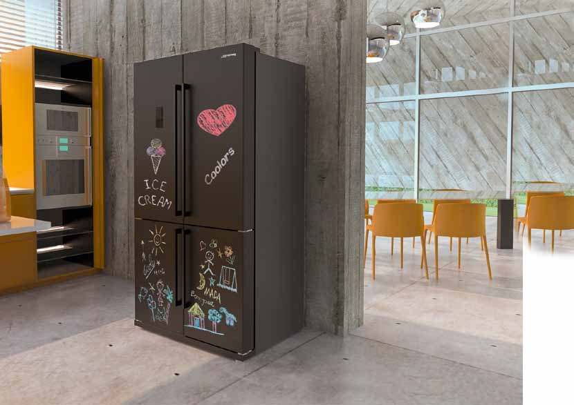 frigorifero 4 porte smeg lavagna alta resistenza