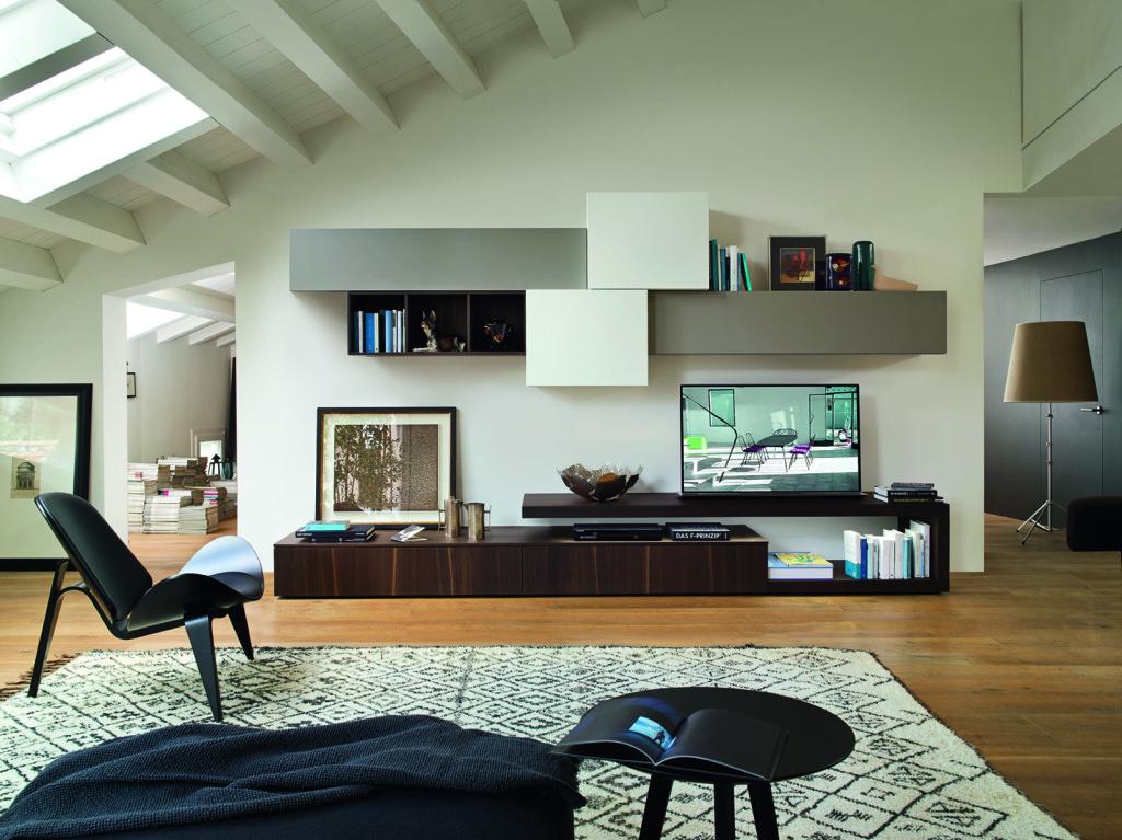 soggiorno componibile con porta tv