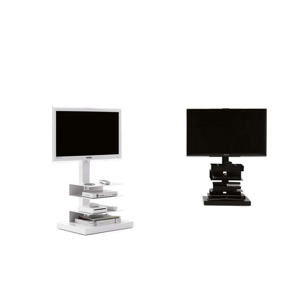 ptolomeo porta tv con ruote colore bianco