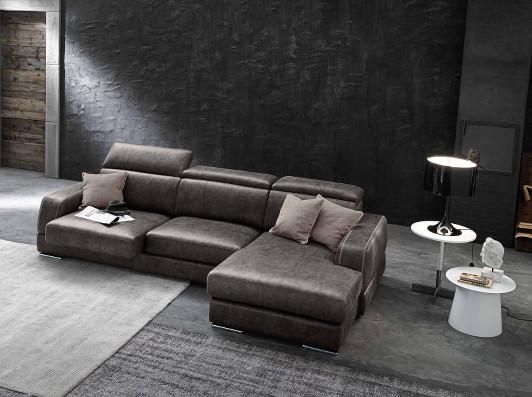 divano componibile in pelle vintage