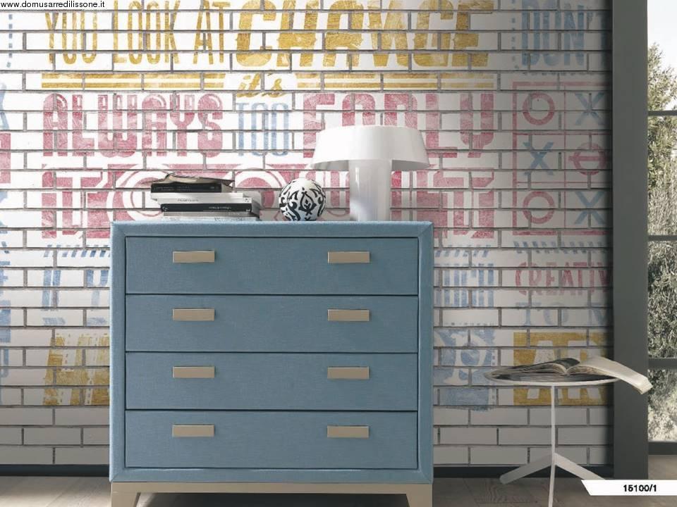Camerette archives non solo mobili cucina soggiorno e for Carta da parati con scritte