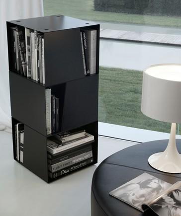 libreria girevole di design nera
