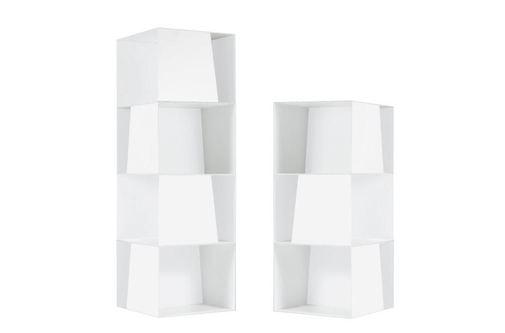libreria girevole di design stay jesse colore bianco