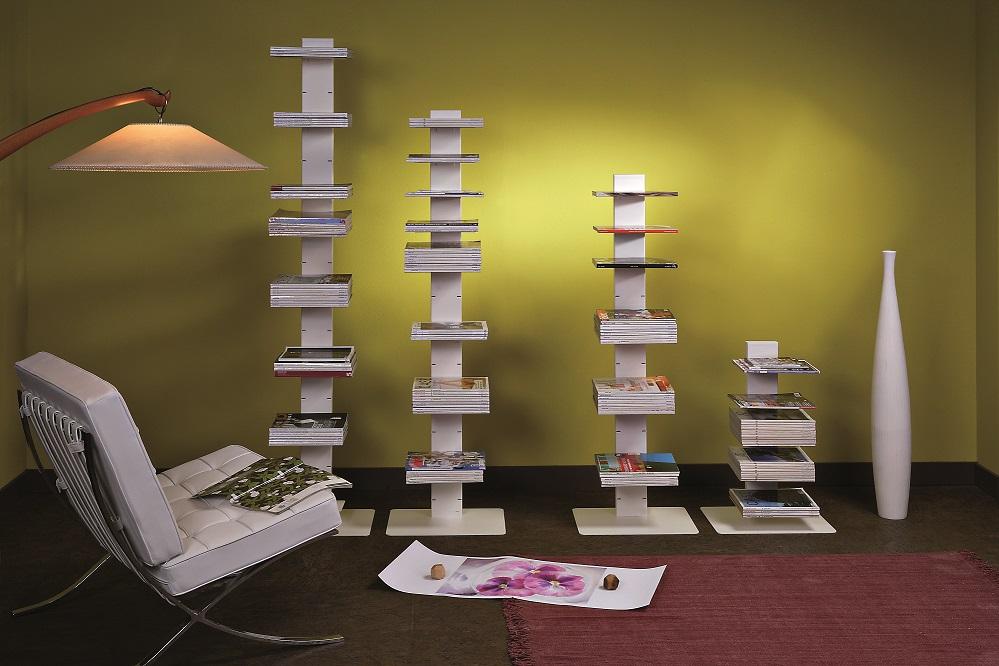 witty libreria free standing e bifacciale in 3 colori