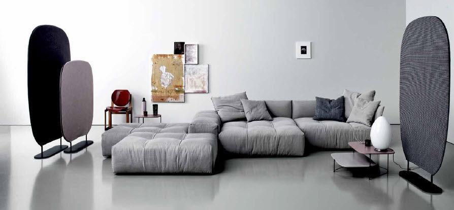 paravento moderno Shade e divano componibile pixel