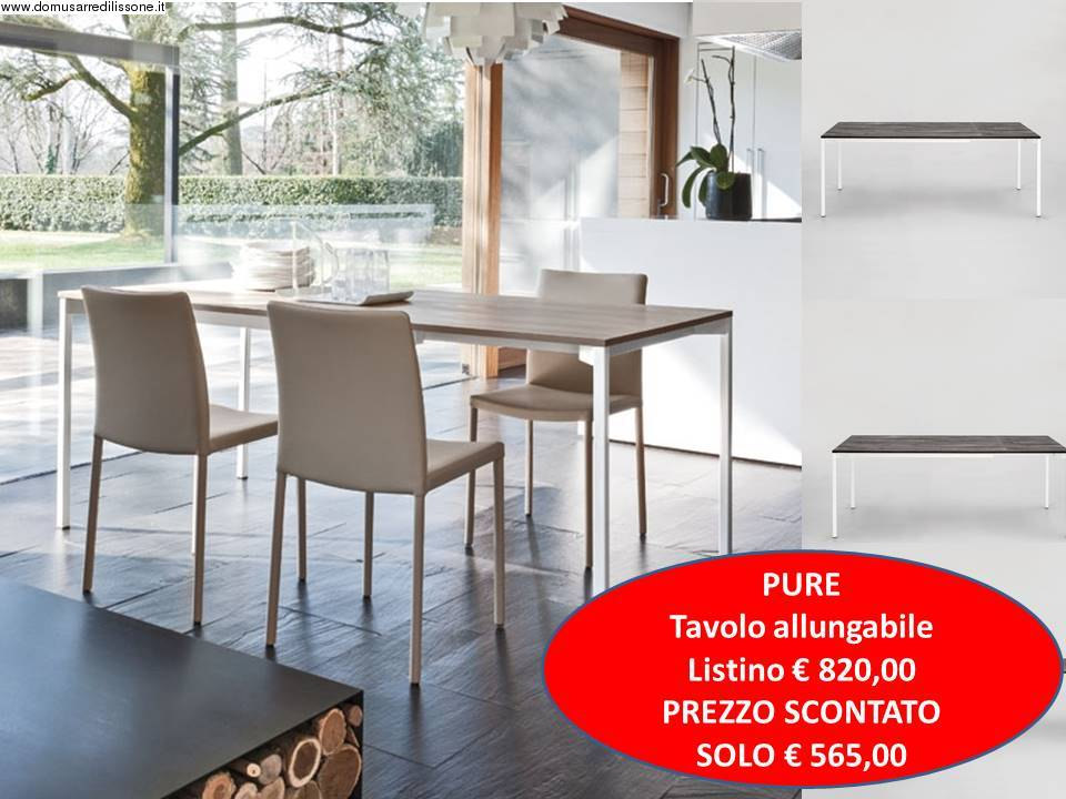 tavolo fisso o allungabile da cucina modello pure tonin casa